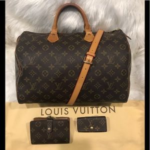 Authentic Louis Vuitton Speedy 35 & Wallet #9.9hj